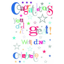 Cards Word Play 20736 Congratulations