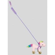 Plush Unicorn On Lead 20cm 2 Assorted