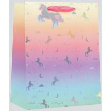 Large Gift Bag Unicorn Silhouette