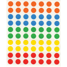 Coloured Self Adhesive Labels 8mm Round