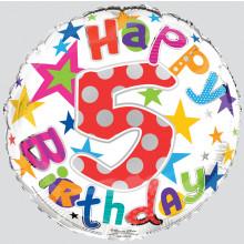 Foil Balloon Age 5 Unisex