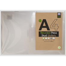 A4 Recycled Press Stud Wallets Twin Pack