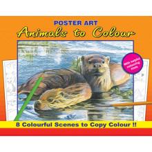 S9305 Animals To Colour 4 Asstd