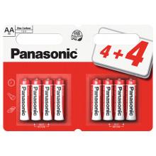 Panasonic AA Zinc Batteries 4+4 Free