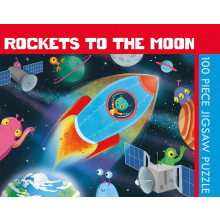 100pc Jigsaw Puzzle Rockets To The Moon
