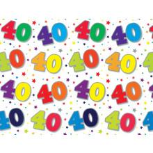 Flat Gift Wrap Sheets Age 40