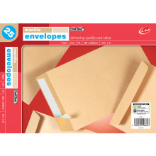 Envelopes Peel & Seal Manilla 324 x 229mm C4 25's
