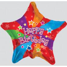 Foil Balloons Happy Birthday Stars