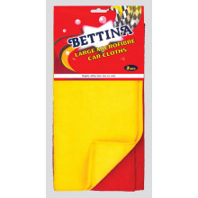 Bettina Microfibre Car Cloths Lge 2 Pack