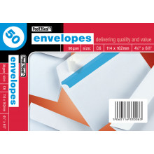 White Envelopes C6 Peel & Seal 50s
