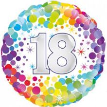 """Confetti Age 18 Foil Balloon 18"""""""