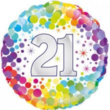 """Confetti Age 21 Foil Balloon 18"""""""