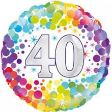 """Confetti Age 40 Foil Balloon 18"""""""