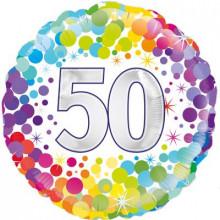 """Confetti Age 50 Foil Balloon 18"""""""