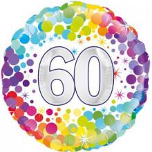 """Confetti Age 60 Foil Balloon 18"""""""