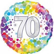 """Confetti Age 70 Foil Balloon 18"""""""