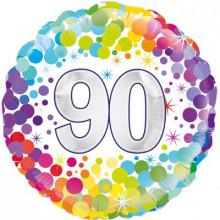 """Confetti Age 90 Foil Balloon 18"""""""