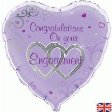 Congratulations on Engagement Foil Balloon 18""