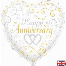 "Happy Anniversary Foil Balloon 18"""