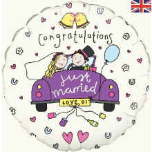 "Just Married Foil Balloon 18""unit"