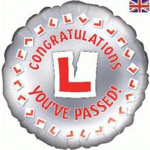 Congratulations Driving Test Pass Foil Balloon