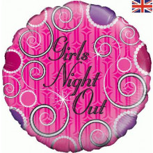 """Girls Night Out Pink Foil Balloon 18"""""""