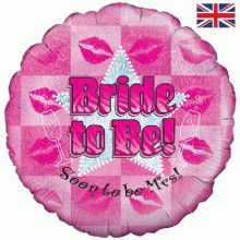 Bride To Be Pink Foil Balloon 18""