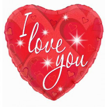 """I love You Red Heart Foil Balloon 18"""""""