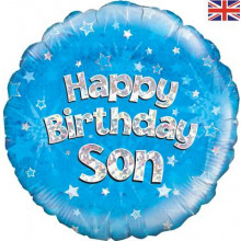 Happy Birthday Son Foil Balloon 18""
