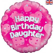 "Happy Birthday Daughter Foil Balloon 18"""