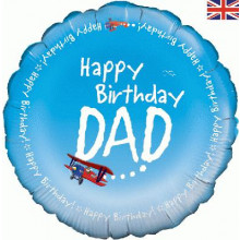 Happy Birthday Dad Foil Balloon 18""