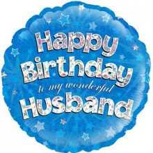 Happy Birthday Husband Foil Balloon 18""