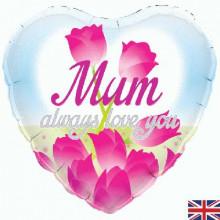 "Always Love You Mum Foil Balloon 18"""