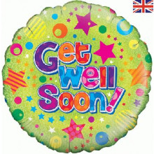 "Get Well Soon Foil Balloon 18"""