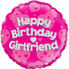 "Birthday Girlfriend Foil Balloon 18"""