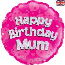 "Happy Birthday Mum Foil Ballon 18"""