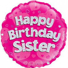 "Happy Birthday Sister Foil Balloon 18"""