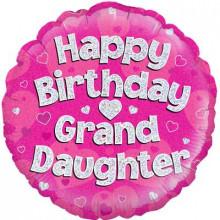 "Happy Birthday Grand Daughter Foil Balloon 18"""
