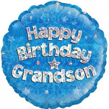 Happy Birthday Grandson Foil Balloon 18""