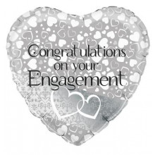 Congratulations on your Engagement Foil Balloon 18""