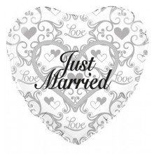 Just Married Foil Balloon 18""