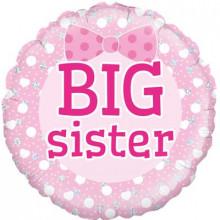 "Birthday Big Sister Foil Balloon 18"""
