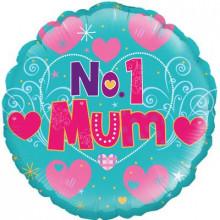 "No.1 Mum Foil Balloon 18"""