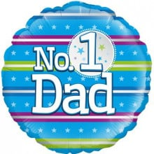 No.1 Dad Foil Balloon 18""