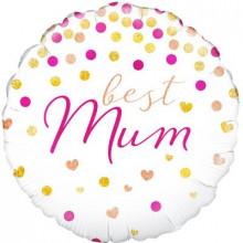 """Best Mum Foil Balloon 18"""""""
