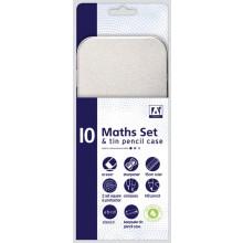 Maths Set & Tin Pencil Case