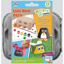Kids Create Recycle Activity Paint Egg Box Pets