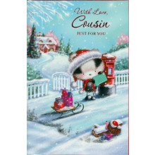 Cousin Fem Cute 50 Christmas Cards