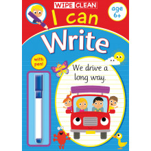 Wipe Clean I Can Write Book With Pen Age 6+ Assorted CAN1-4