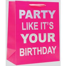 Gift Bag Party Pink Bottle